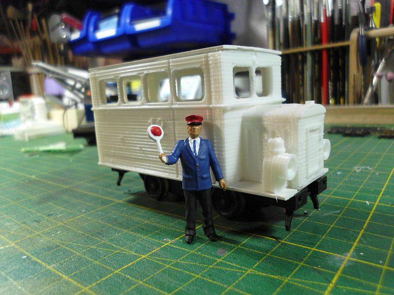 Kleiner Schienenbus im 3D Druck, 0n30 - Fertig 830