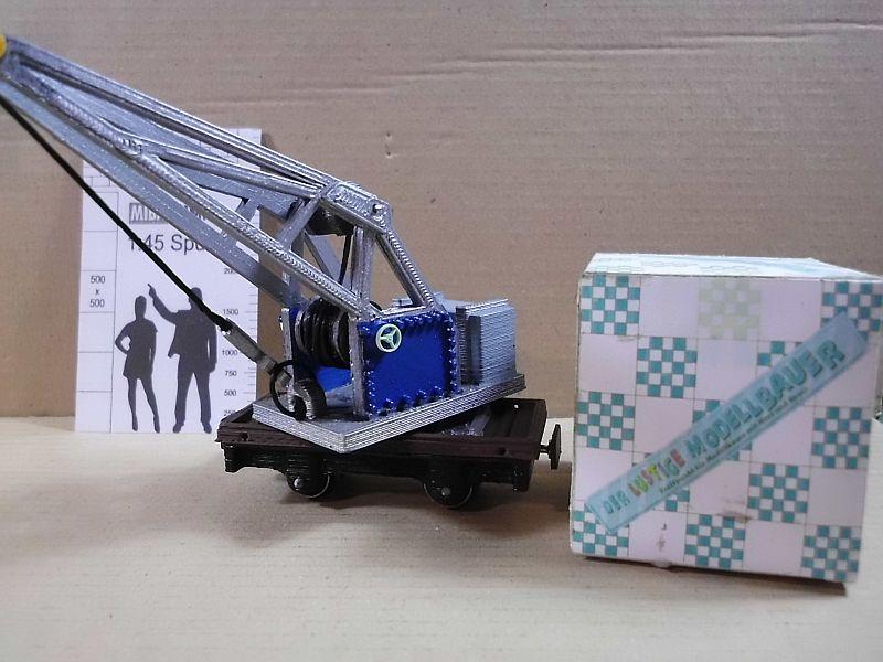 Kleiner Eisenbahnkran im 3D - Druck, 0n30, ein Versuch der Machbarkeit 920