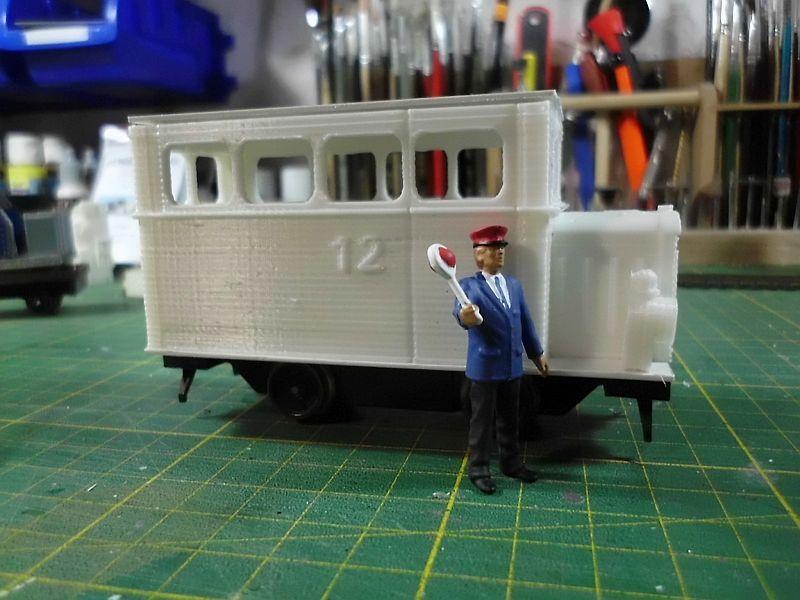 Kleiner Schienenbus im 3D Druck, 0n30 - Fertig 921