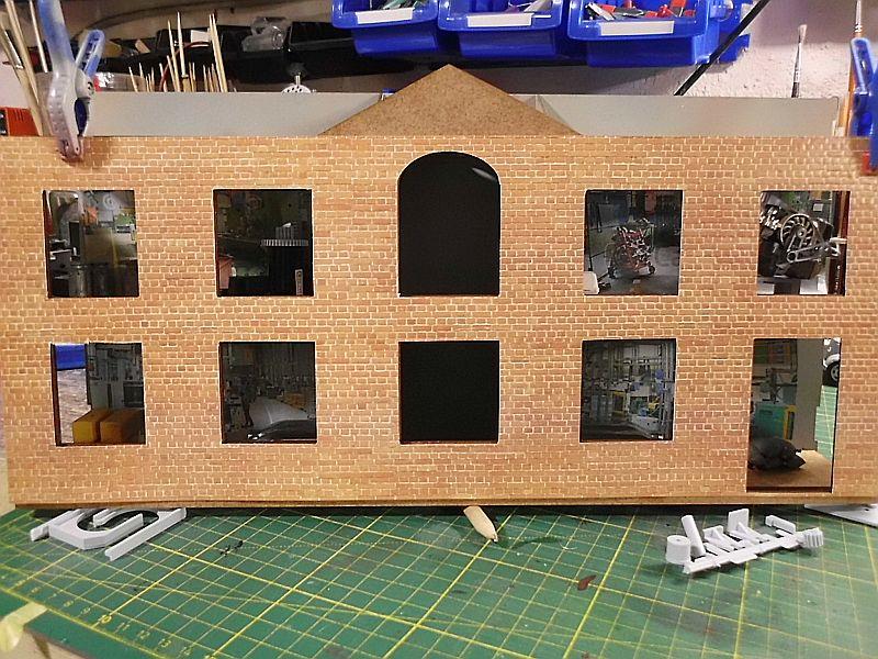 FPM - Models - Fabrikhallenkulisse - Lasercut-Bausatz in 1/45 Dsci0762