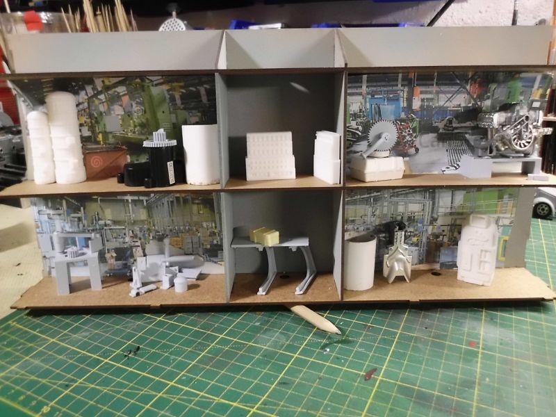 FPM - Models - Fabrikhallenkulisse - Lasercut-Bausatz in 1/45 Dsci0770