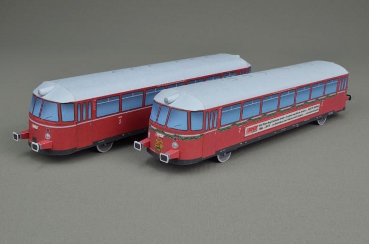 Kallboys - Schienenbus MAN VT23 in 1/43 - kostenloser Download Kartonmodell Errre11