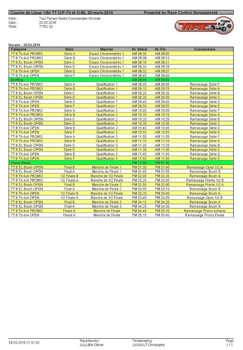Course de Ligue O/P-Th et O-BL le 20 mars 2016 au TTRC33 Timing11