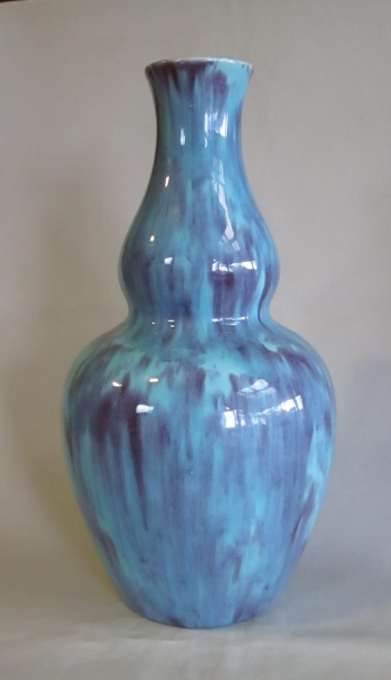 Blue Purple Glaze Vase .... is this the so called Ruskin ware? Img_4210