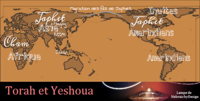 Les origines de l'humanité Sem Cham et Japhet 3 fils de Noah Japhet10