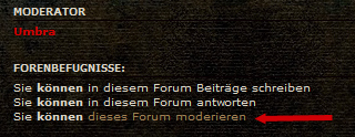 Forums- und Beitragsfunktionen Modera10