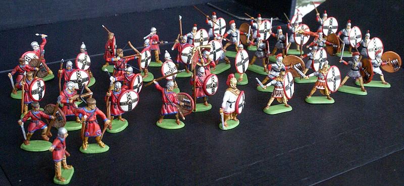 Infanterie lourde tardive romaine 1/72 Dsc05312