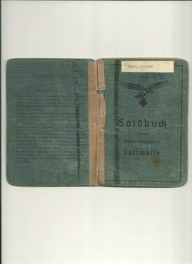 Soldbuch LUFT n°2 01610