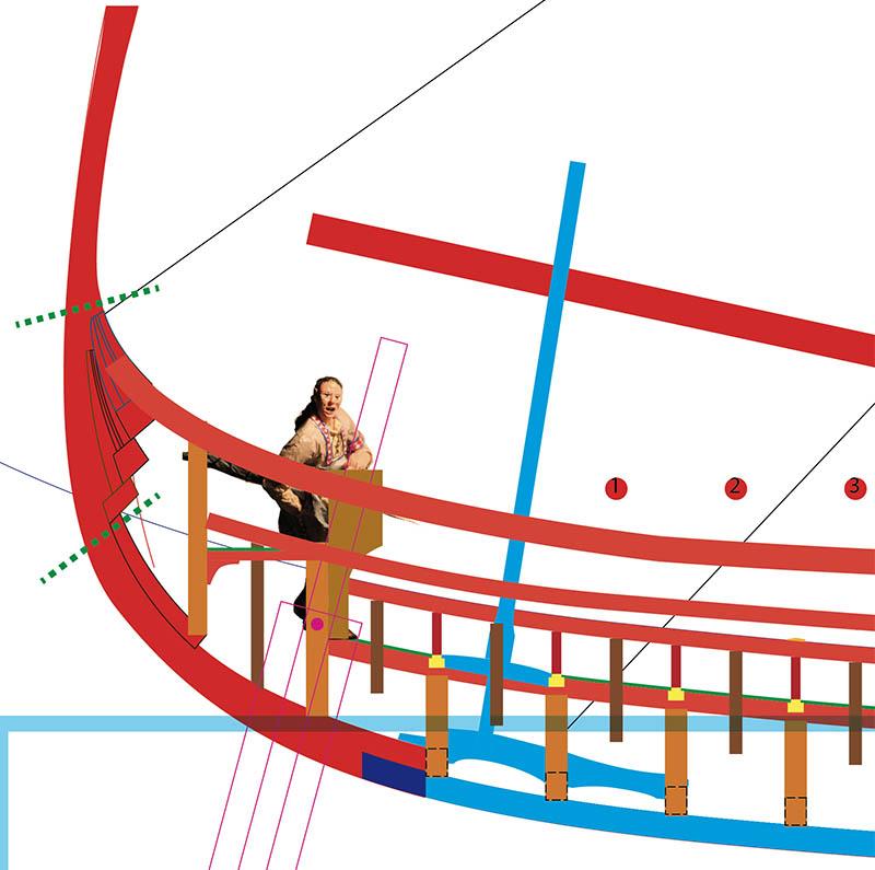 Wikinger-Boot Skuldelev 2 (1:20)  - Seite 4 Heck_210