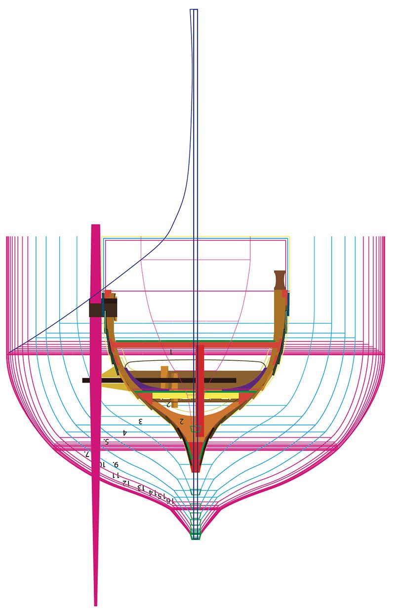 Wikinger-Boot Skuldelev 2 (1:20)  - Seite 4 Zeichn10