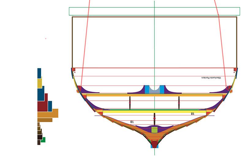 Wikinger-Boot Skuldelev 2 (1:20)  - Seite 4 Zeichn12