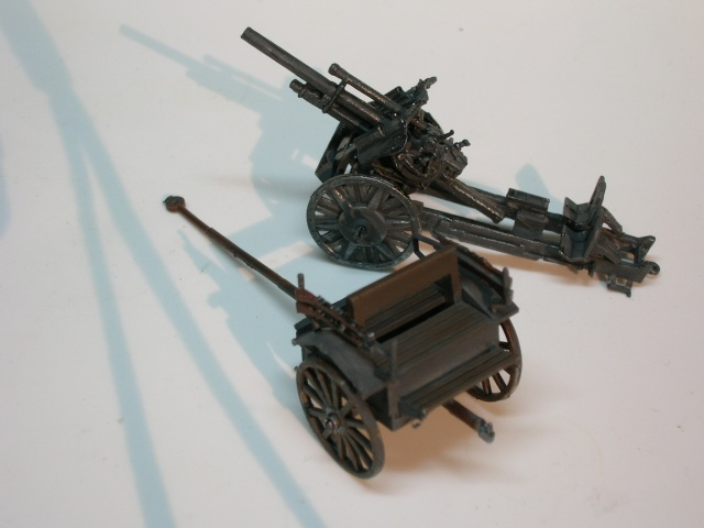 Attelage allemand d'artillerie FH-18 105 mm (revell) au 1/72--  fini------ Dscn3918