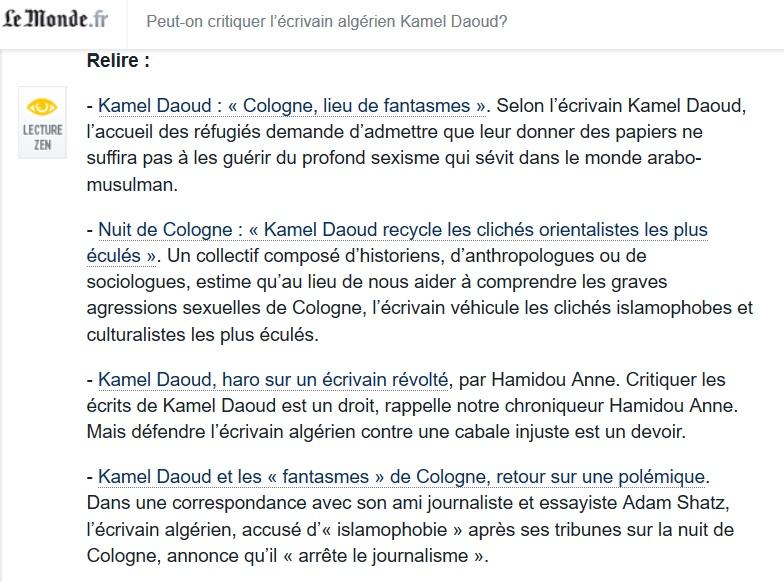 """FRANCE // ALGERIE Islamophobie ? """"L'islam et le PS : Kamel Daoud, ne renoncez pas !"""" Kamel_10"""