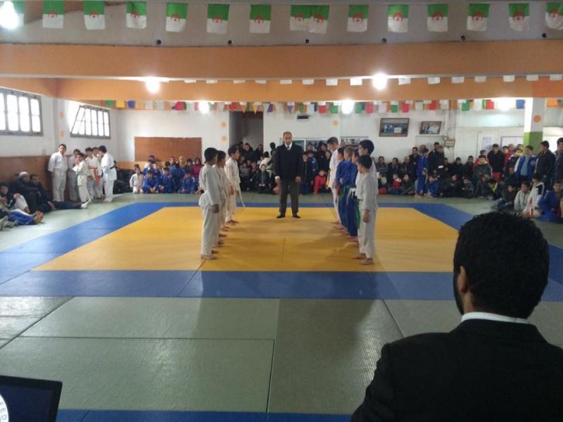 Tournoi de Judo à la mémoire  de Samir Meziane et Allaoua Belkasmi le 12 mars à Aokas  1210