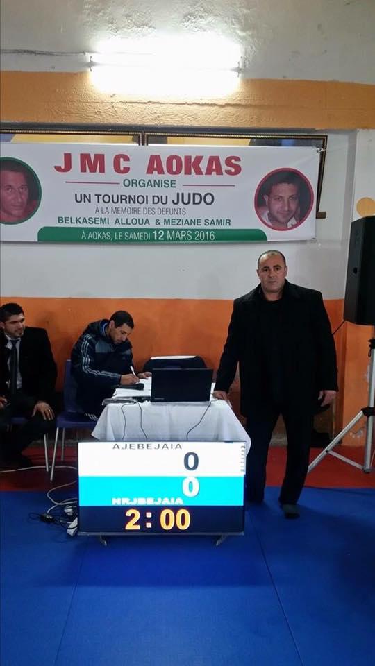 Tournoi de Judo à la mémoire  de Samir Meziane et Allaoua Belkasmi le 12 mars à Aokas  Tourno11