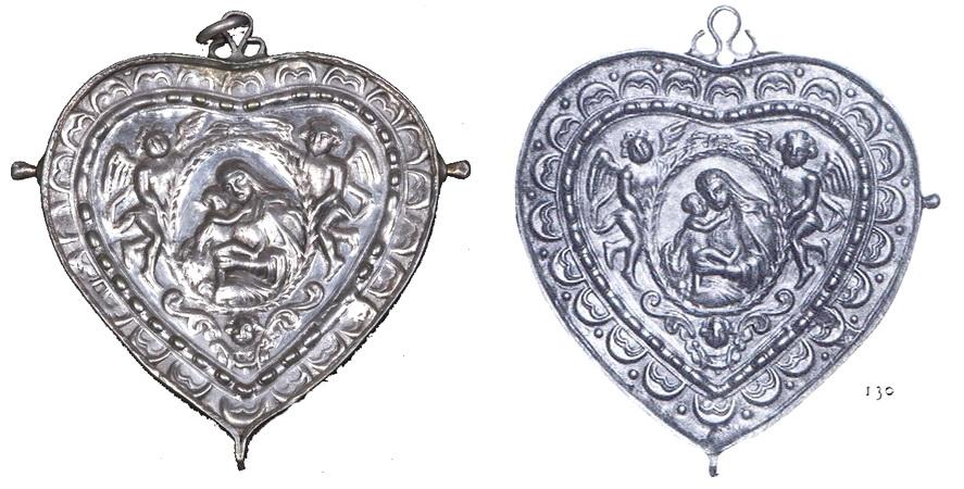 medalla cordiforme virgen de Passau ( alemania) / Coronación (R.M. SXVIII-Ot16)(MAM) Acoraz10