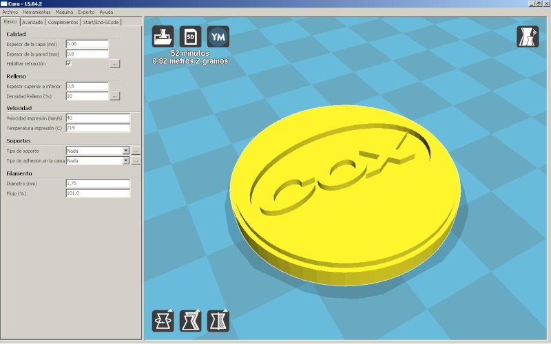 Modeling COX engines with 3D Printer Logo10
