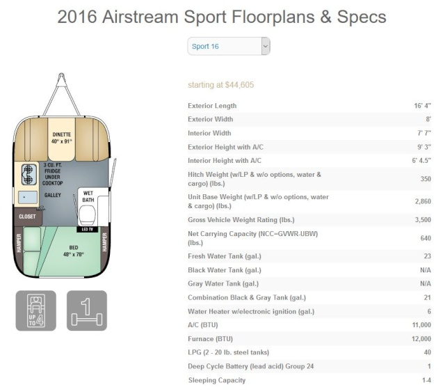 Airstream Sport 16 Bambi Travel trailer  2016_a10