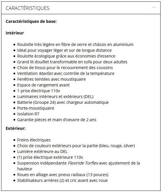 Mini-roulotte Hélio (produit du Québec)  Catara27