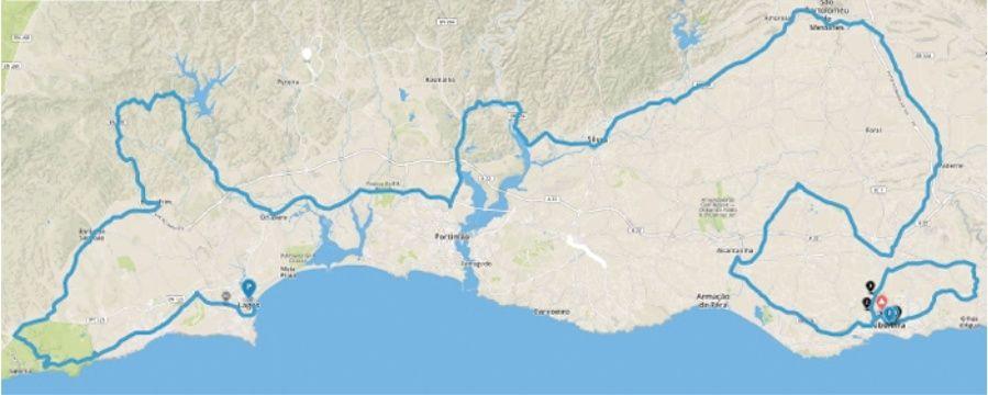planimetria 2016 » 42nd Volta ao Algarve em Bicicleta (2.1) - 1a tappa » Lagos › Albufeira (187.6 km)