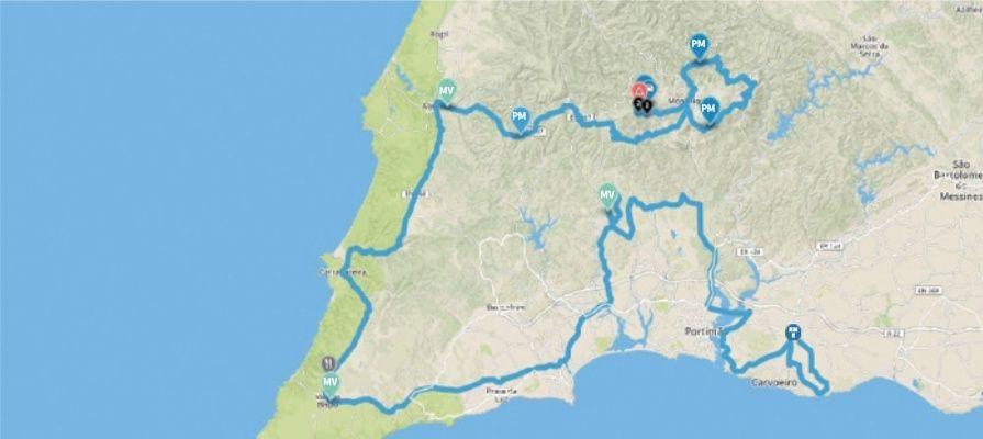 planimetria 2016 » 42nd Volta ao Algarve em Bicicleta (2.1) - 2a tappa » Lagoa › Fóia (200 km)