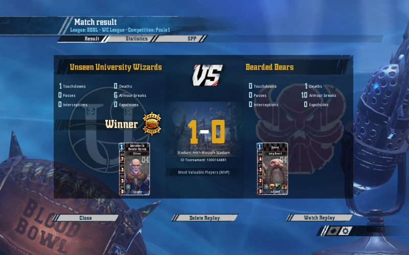 [Le Lapin Troll] Unseen University Wizards 1 - 0 Bearded Bears [Captain Toth] Toth10
