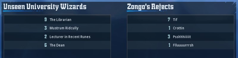 [Le Lapin Troll] Unseen University Wizards 3 - 1 Zongo's Rejetcs [Zongogo] Zongo310