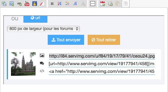 Nouveauté Servimg: Le multiupload, le Drag & Drop et l'insertion directe dans les messages sont enfin arrivés !  Captur10