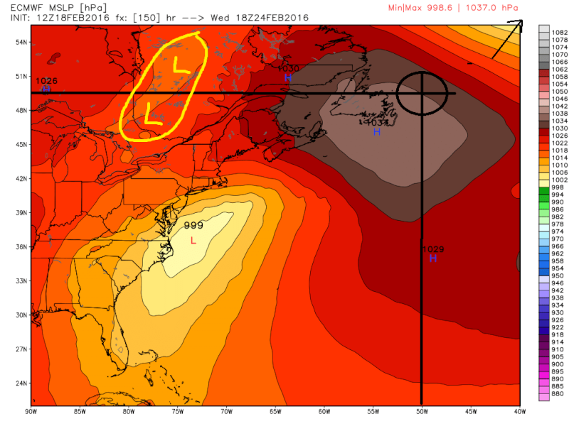 FEB 23rd-25th system (Wave 1 and 2) Ecmwf_10