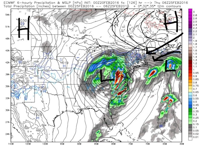 FEB 23rd-25th system (Wave 1 and 2) Euro_s10