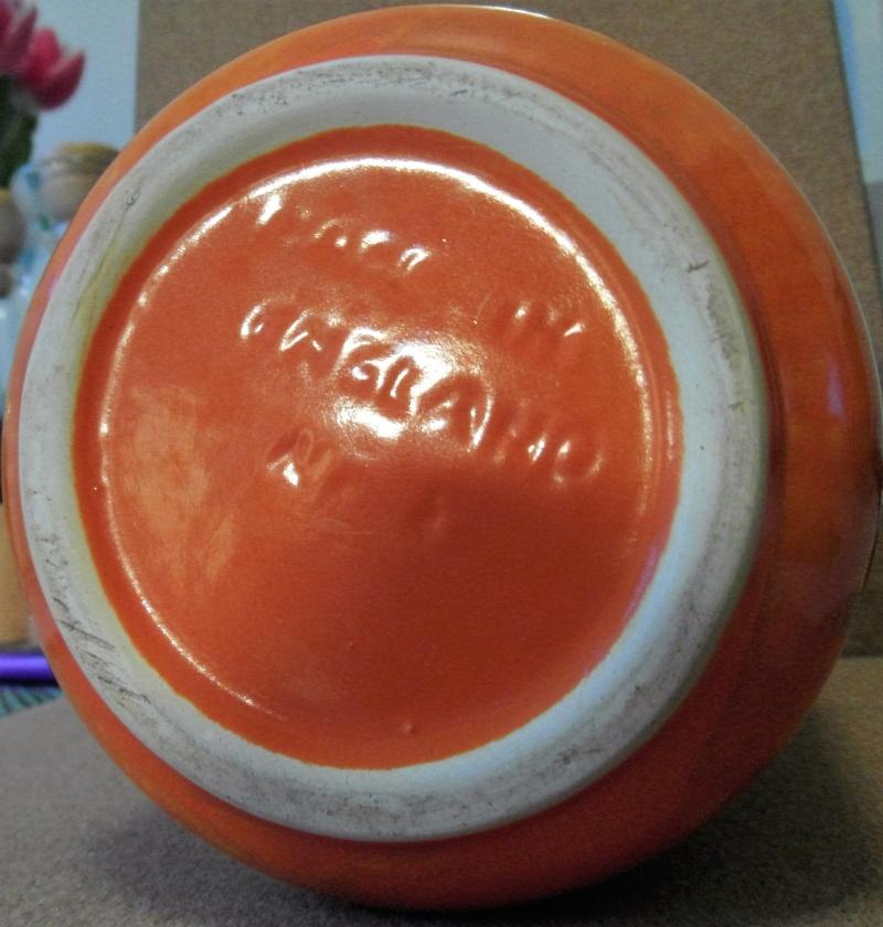 English Orange Lava glaze earthenware vase Sam_5811