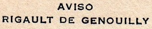 * RIGAULT DE GENOUILLY (1934/1940) * 185_0011