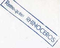 * RHINOCÉROS (1947/1981) * 7009_c10