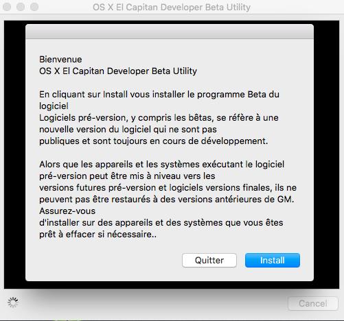 OS X El Capitan Developer Beta Utility.app 124