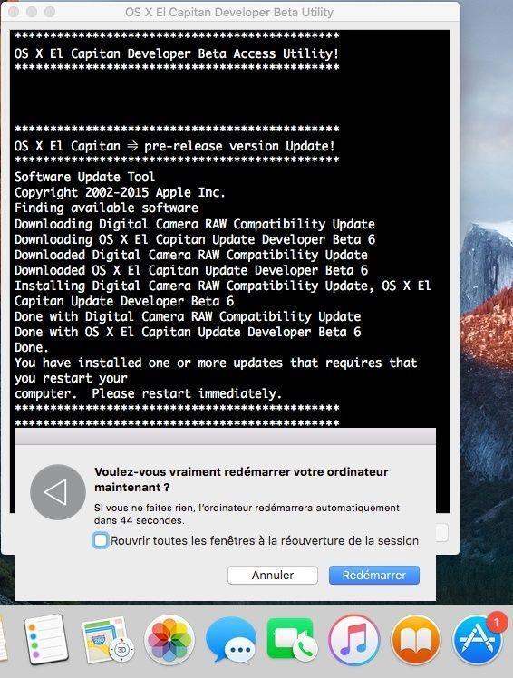 OS X El Capitan Developer Beta Utility.app 411