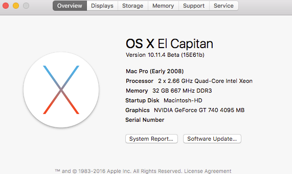 OS X El Capitan Developer Beta Utility.app Mmm10