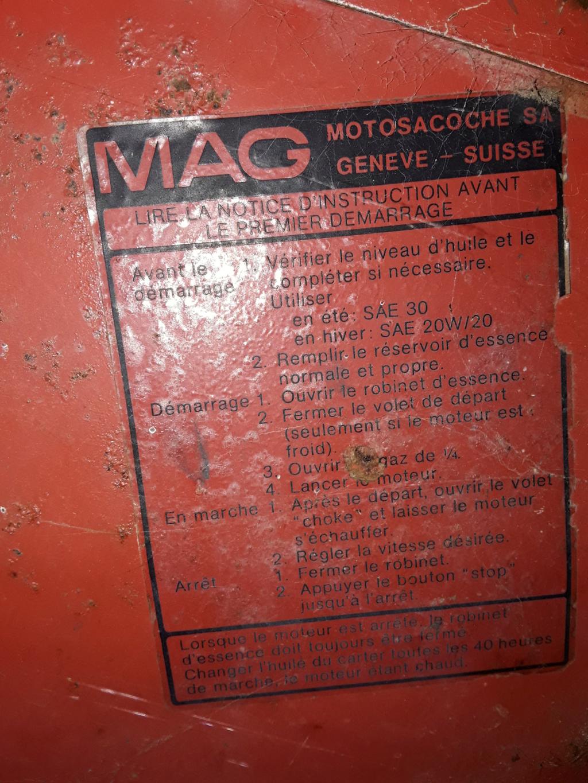 motoculteur - (vends) motoculteur MAG 20200714