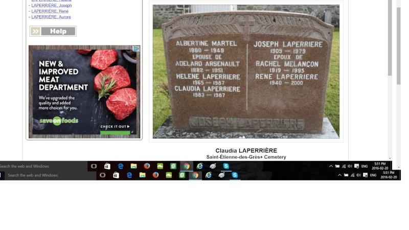 Laperrière-naissance décès Claudi10