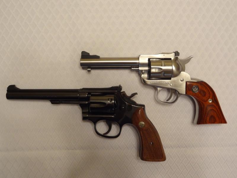"""Side by Side: S&W """"Model 17"""" vs Ruger """"New Model Single Six"""" 22lr_210"""