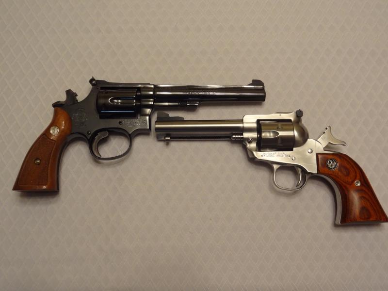 """Side by Side: S&W """"Model 17"""" vs Ruger """"New Model Single Six"""" 22lr_610"""