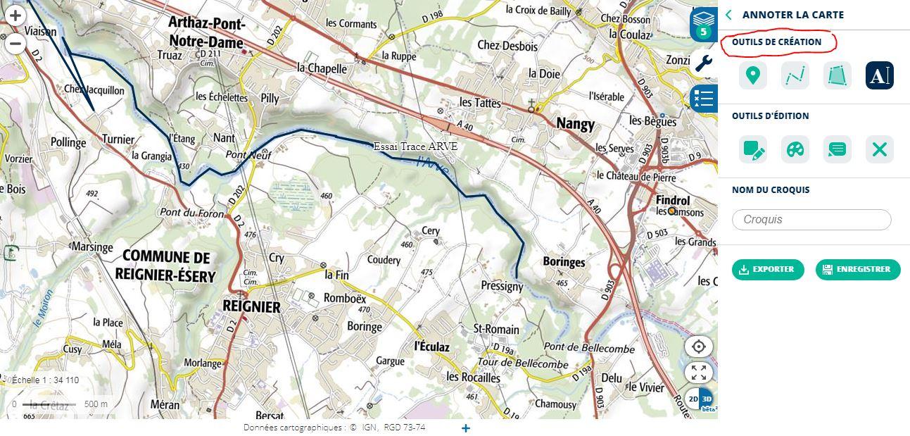 [résolu]Tracer un itinéraire, le sauver en KMZ [problème technique Google Earth] - Page 2 Arve_e10