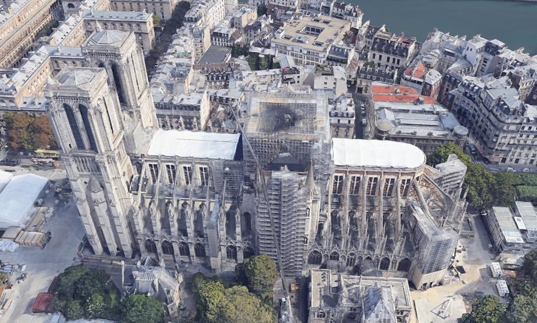 La cathédrale de Paris Après ....image jamais diffusée  Cat_3d10