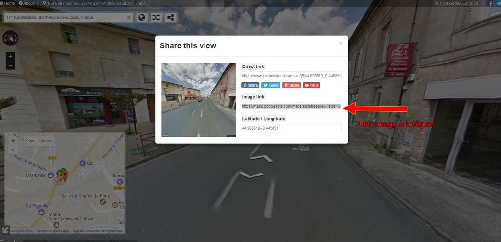 [résolu] Copier/coller une image de Google Maps Street10