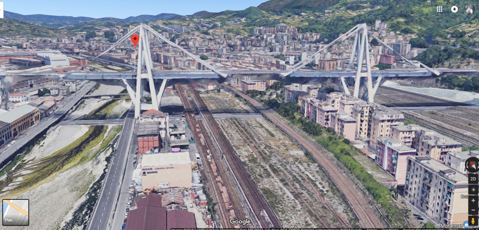 ACTUALITE : Le pont Morandi à Gènes (autoroute A10) s'est écroulé Viaduc10