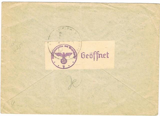 """Les marques des censeurs """"lecteurs"""" des centres de contrôle allemands : n : Nancy. Ccf21012"""