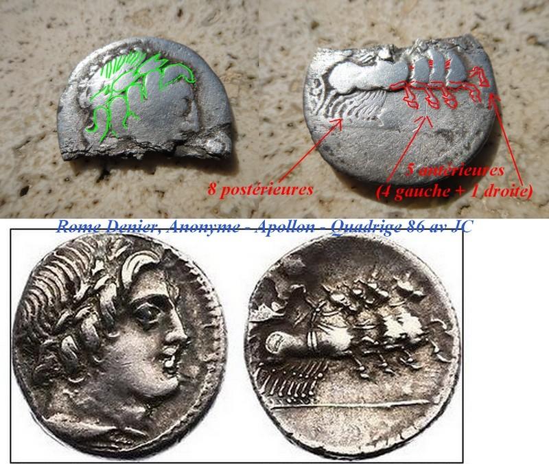moitié de denier d ' Apollon PANSA Buse_q10