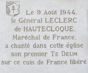 Général Leclerc à Rouillon 9 août 1944 Patrim10
