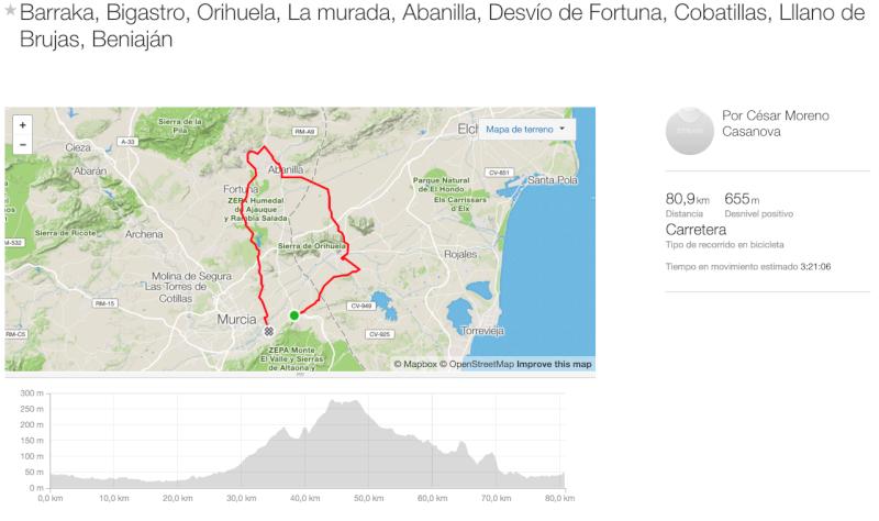 Ruta Oficial - La Murada, Fortuna. Captur11