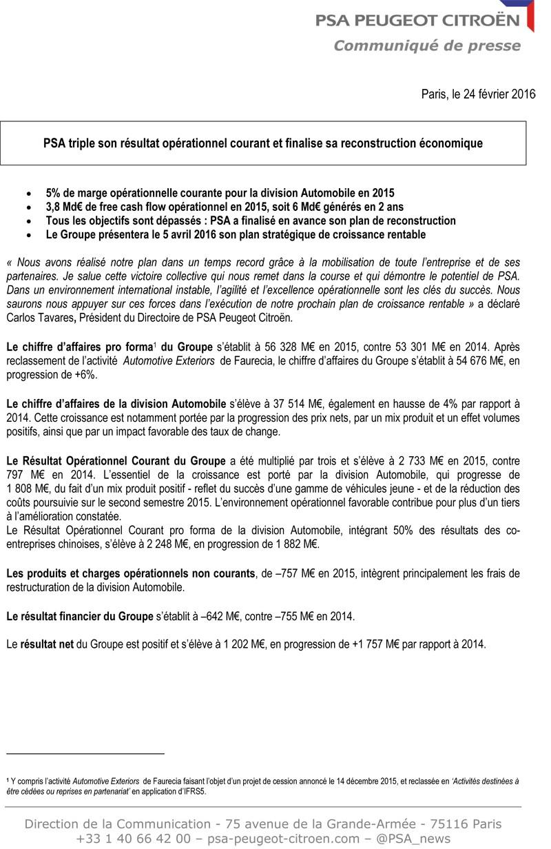 [PSA] Résultats annuels 2015 Cp_res10