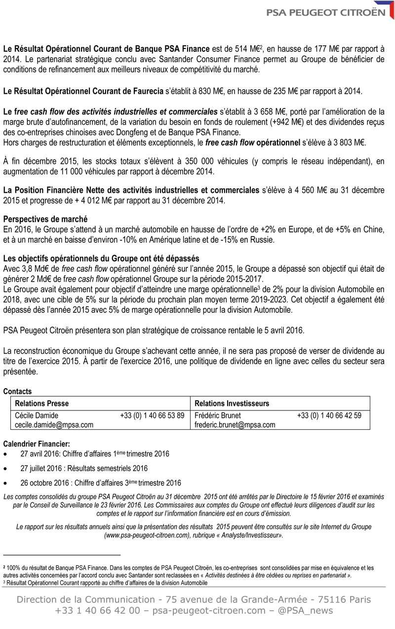 [PSA] Résultats annuels 2015 Cp_res11